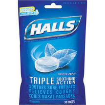 Halls Base Mentho-Lyptus Advanced Vapor Action Menthol Drops Cough Suppressant/Oral Anesthetic