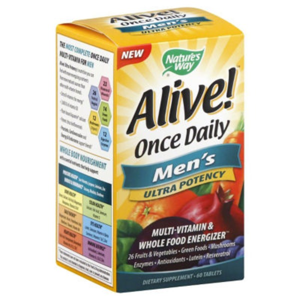 Nature's Way Alive! Men's Multi-Vitamin - 60 CT