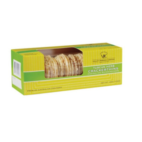 Valley Produce Company Australian Watercrackers Tuscan Herb Thins