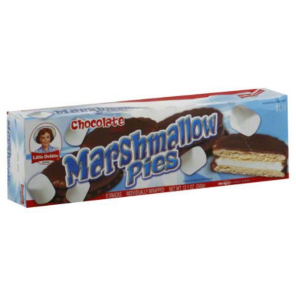 Little Debbie Chocolate Marshmallow Pies - 8 CT