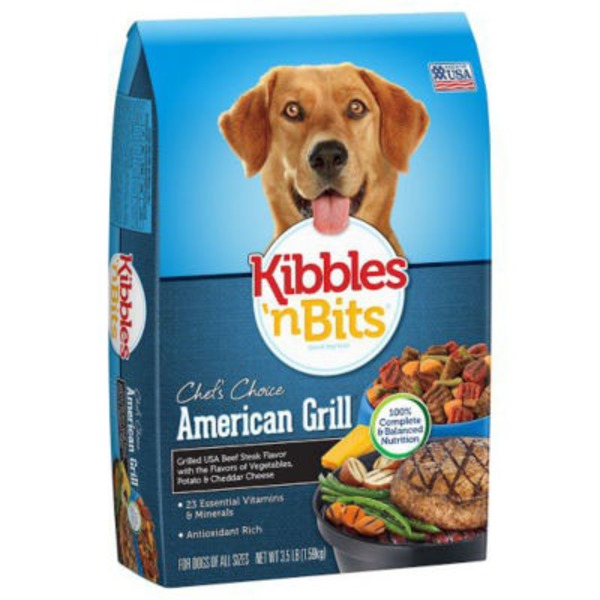 Kibbles 'n Bits American Grill Grilled USA Beef Steak Flavor Dry Dog Food
