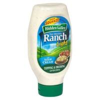Hidden Valley Original Ranch Light Dressing, Easy Squeeze Bottle, 20 Ounces