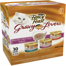 Fancy Feast Gravey Lovers Poultry&Beef Feast 30-Pack Variety Canned Cat Food 3oz