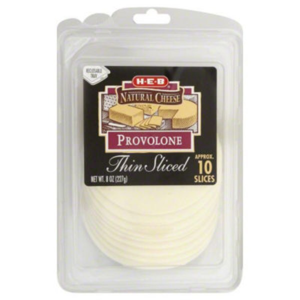 H-E-B Thin Sliced Provolone