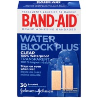Band Aid® Brand Adhesive Bandages Clear Assorted Posted Water Block Plus®