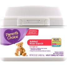Parent's Choice Added Rice Starch Tub Powdered Infant Formula