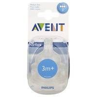 Philips Avent Bottle Nipple Classic (3m+) - 2 CT