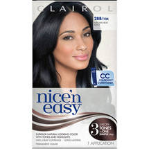 Clairol Nice 'N Easy Natural Permanent Hair Color 124 Blue Black