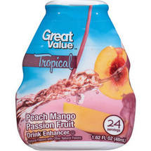Great Value Tropical Peach Mango Passion Fruit Drink Enhancer