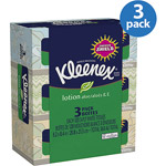Kleenex Facial Tissues Lotion Pack of 3 (Designs May Vary)