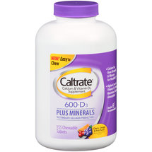 Caltrate Calcium & Vitamin D3 Supplement Chewable Tablets