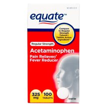 Equate Regular Strength Acetaminophen Pain Reliever/Fever Reducer Tablets
