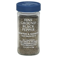 Morton & Bassett Spices Pepper, Black, Fine Ground
