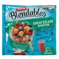 H-E-B Blendables Great Escape Red Grapes, Strawberries, Bananas, Tomatoes & Cucumber Smoothie