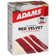 Adams The Original Red Velvet 3-Layer Cake Mix