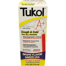 Tukol for Children Cough & Cold Grape Flavor Liquid Cold Medicine