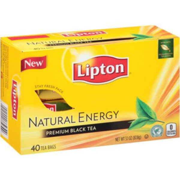 Lipton Natural Energy Premium Black Tea Bags