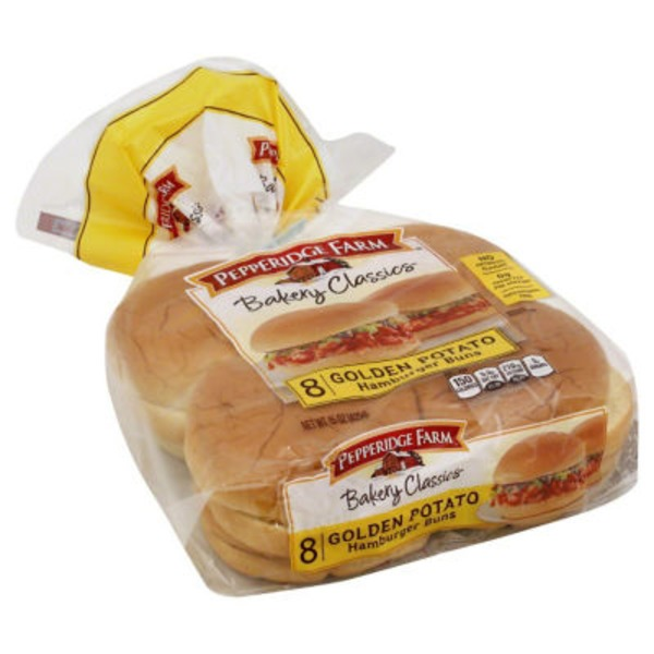 Pepperidge Farm Fresh Bakery Golden Potato Hamburger Buns