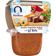 Gerber 3rd Foods Garden Vegetable & Beef Dinner with Lil' Bits Pureed Dinner