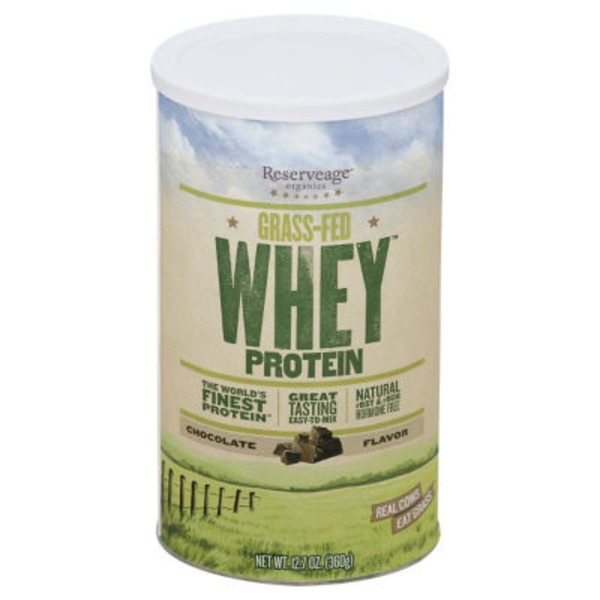 Reserveage Organics Whey Protein, Grass-Fed, Chocolate Flavor