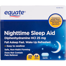 Equate Nighttime Mini-Caplets Sleep Aid