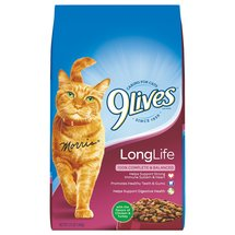 9 Lives Long Life Formula For Maturing Cats w/Real Chicken & Turkey Cat Food