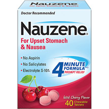 Nauzene Chewables For Nausea Wild Cherry Flavor Tablets