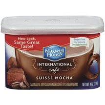 Maxwell House International Cafe-Style Sugar Free Decaffeinated Suisse Mocha