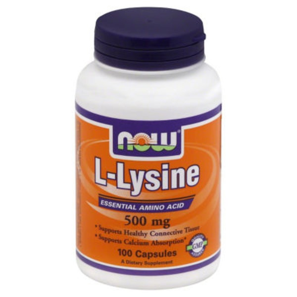 Now L-Lysine 500 mg Capsules