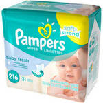 Pampers Baby Fresh Wipes 216CT