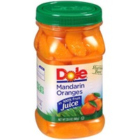 Dole Plastic Jars Harvest Best in 100% Fruit Juice Mandarin Oranges
