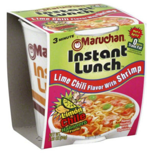 Maruchan Instant Lunch Lime Chili Flavor with Shrimp Ramen Noodle Soup