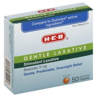H-E-B Gentle Laxative Tablets Bisacodyl 5mg Overnight Relief