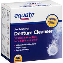 Equate Antibacterial Denture Cleanser Tablets