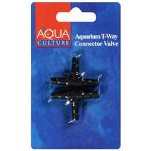 Aqua Culture T-Way Connector Aquarium Valve