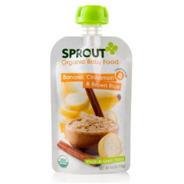 Sprouts Organic Baby Food Banana, Cinnamon & Brown Rice 2
