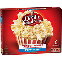 Orville Redenbacher's Pop Up Bowl Tender Gourmet White Corn Microwave Popcorn