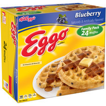 Kelloggs Eggo Blueberry Waffles Family Pack