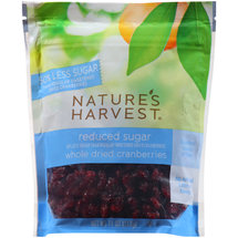 Nature's Harvest Reduced Sugar Whole Dried Cranberries