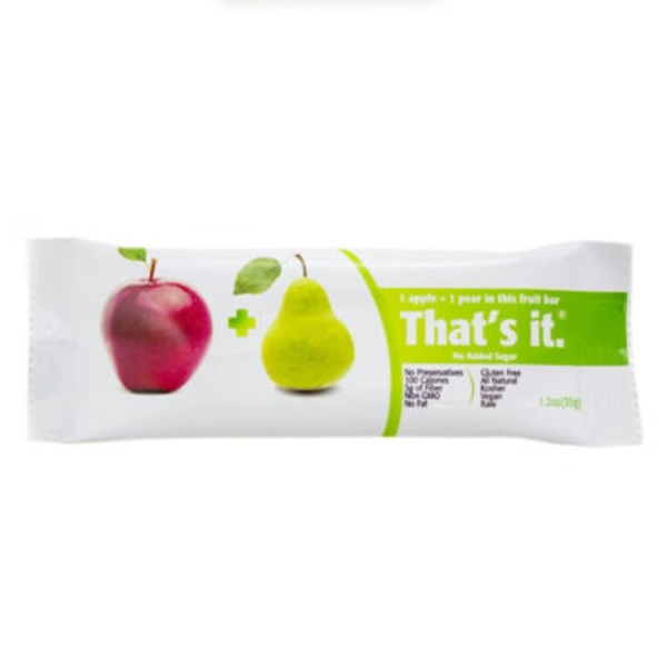 Thats It 1 Apple + 1 Pear Fruit Bar