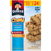 Quaker Chewy 25% Less Sugar Granola Bars Variety Pack
