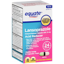 Equate Lansoprazole Acid Reducer Capsules