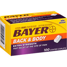 Bayer Extra Strength Back & Body Aspirin Pain Reliever Coated Caplets