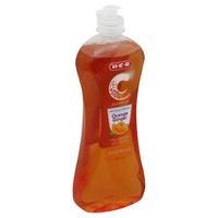 H-E-B Cleaning Antibacterial Dishwashing Liquid Orange Ginger