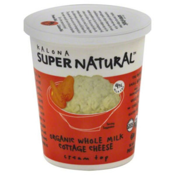 Kalona Super Natural Organic Whole Milk Cottage Cheese