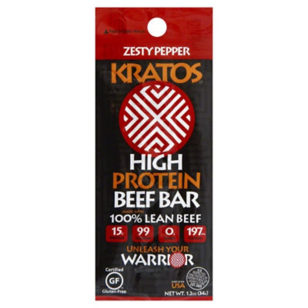 Kratos High Protein Zesty Pepper Beef Bar