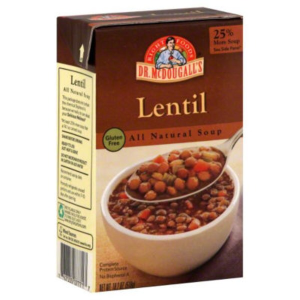 Dr. McDougall's Right Foods Gluten Free All Natural Soup Lentil