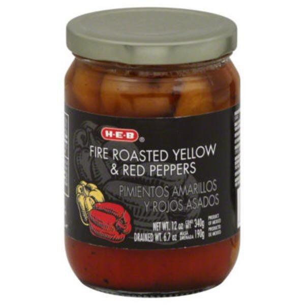 H-E-B Fire Roasted Yellow And Red Peppers