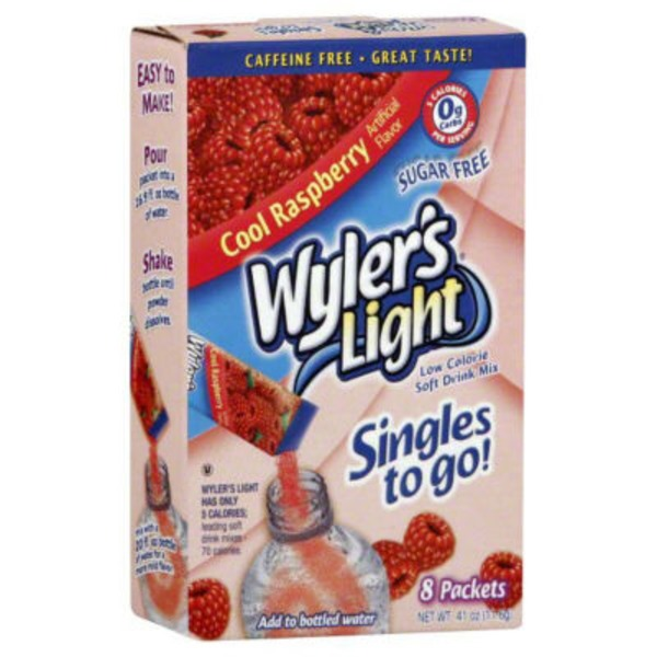 Wyler's Low Calorie Sugar Free Cool Raspberry Soft Drink Mix Packets