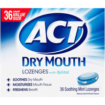 ACT Dry Mouth Soothing Mint Lozenge with Xylitol